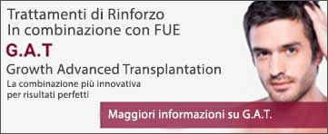 Tratamenti di Rinforzo in combinazione con FUE - Growth Advanced Transplantation